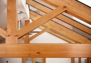 Oak & Home - Oak Framed Roof Beams Close Up