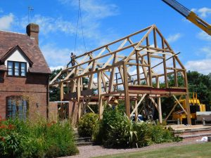 Oak cruck frame extension