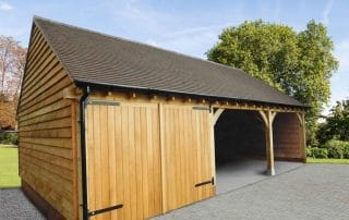Three Bay Oak Warwick Garage